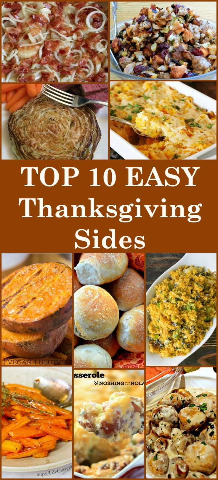 Here's a selection of the BEST TOP 10 Side Dishes from talented bloggers. All tried and true recipes and fit for your very special Thanksgiving table.  Easy and delicious that's for sure! Possible to Make ahead too!