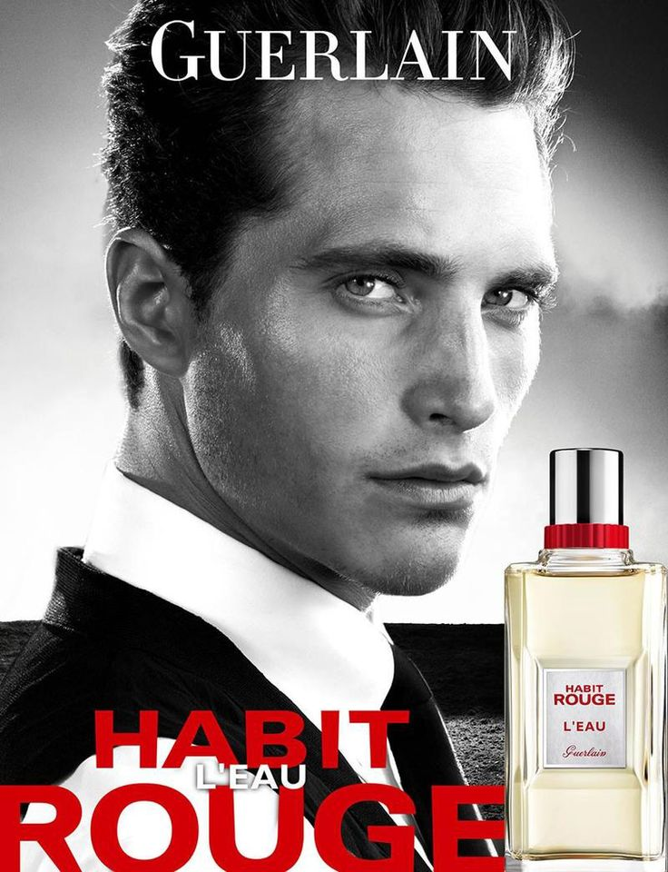 Ollie Edwards by Steven Klein for Guerlain Habit Rouge LEau Fragrance Campaign