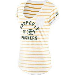 Women's Green Bay Packers Nike White Boyfriend Pocket T-Shirt | if ...