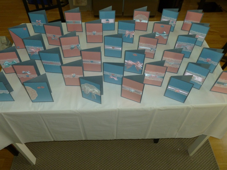 My Wedding Invitations  couldn't pink one design so make lots of different ones with the same colour scheme instead