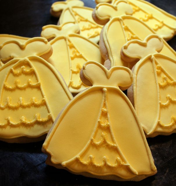 Disney Princess Belle Yellow Ball Gown Cookies | Disney Every Day