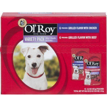 Ol'Roy Variety Pack Mini Chunks in Gravy Dog Food, 12-Count, Blue