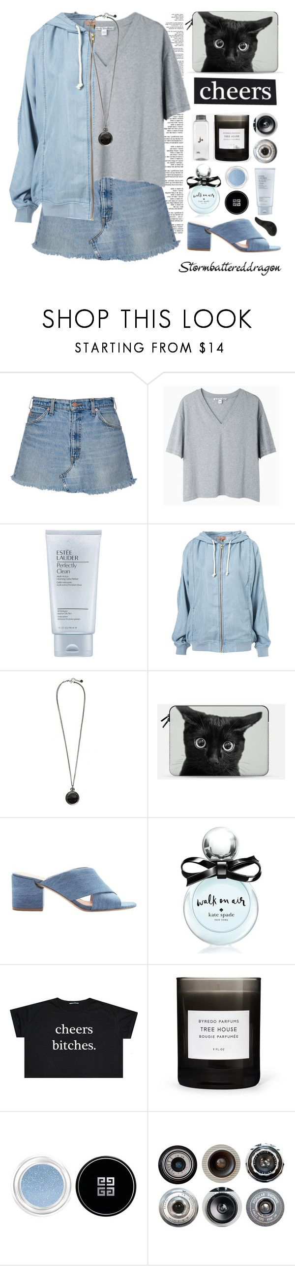 """""""Cheers!"""" by stormbattereddragon ❤ liked on Polyvore featuring Acne Studios, Estée Lauder, AllSaints, Casetify, Sigerson Morrison, Kate Spade, Givenchy and Ella Doran"""