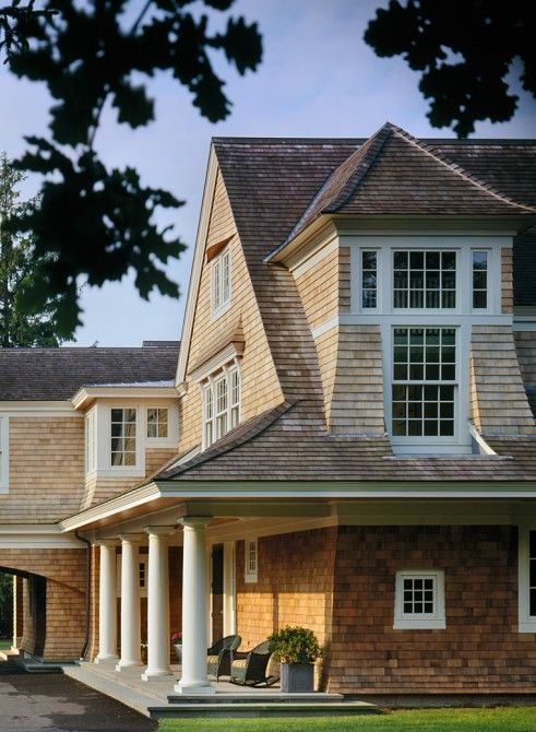 82 best shingle style homes images on pinterest beach for Shingle style architecture