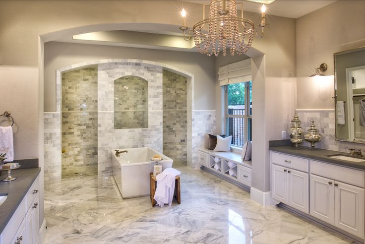 Toll Brothers - Sandhaven Master Luxury Bath - Sienna Plantation - Missouri City, TX - Fort Bend County
