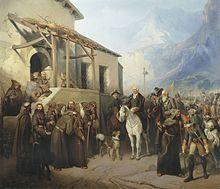 Суворов, Александр Васильевич — А. И. Шарлемань. «Фельдмаршал Суворов на вершине Сен-Готарда 13 сентября 1799 года»