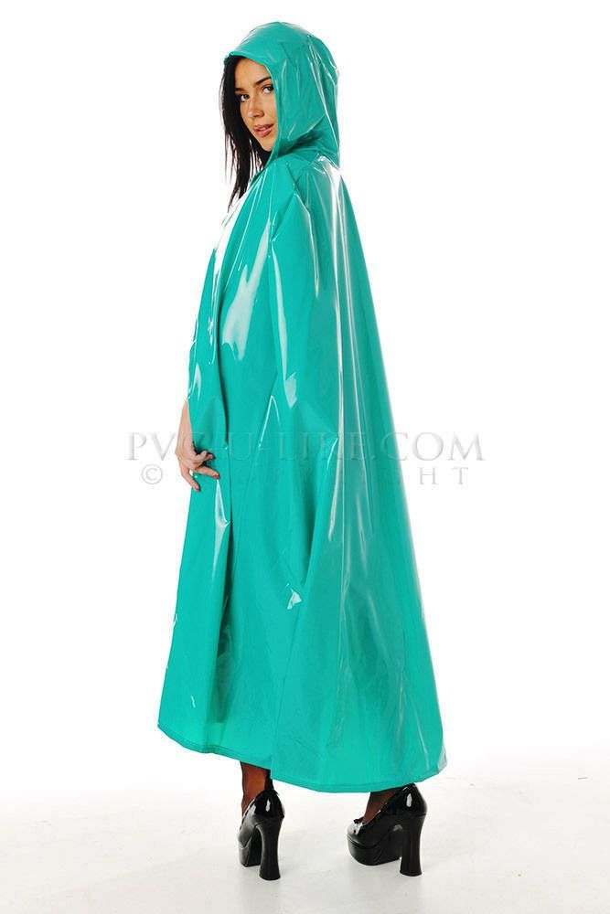 Lovely long turquoise cape
