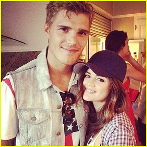 Lucy Hale: 4th of July with Chris Zylka!