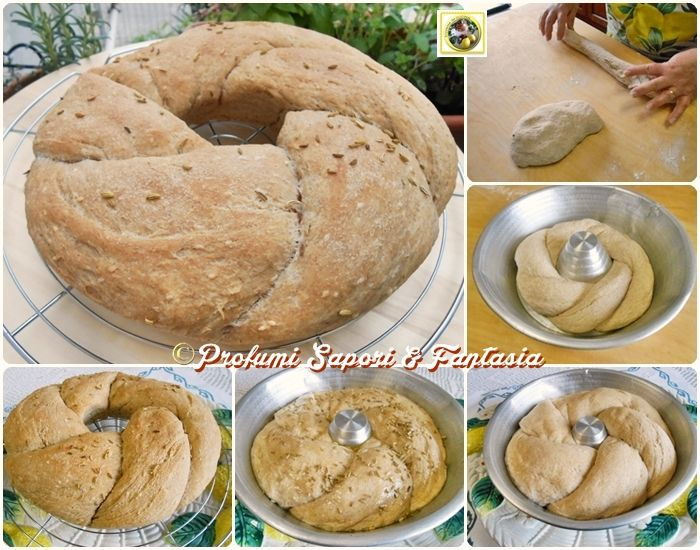 Corona di pane integrale  Blog Profumi Sapori & Fantasia