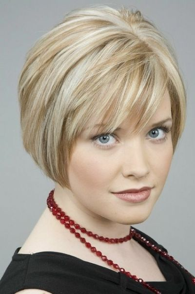 Short Bob Cut with Layered Bangs