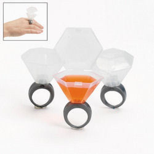 Plastic Wedding Ring Shot Glass, 12 pack - awesome for a hen's do