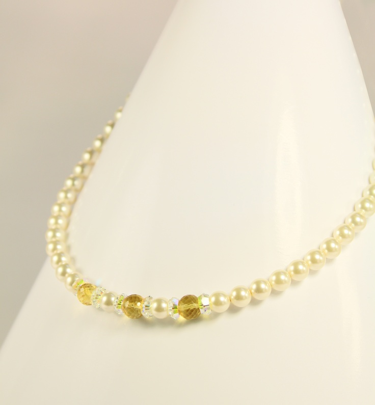 beautiful pearl and citrine necklace...by Amethy