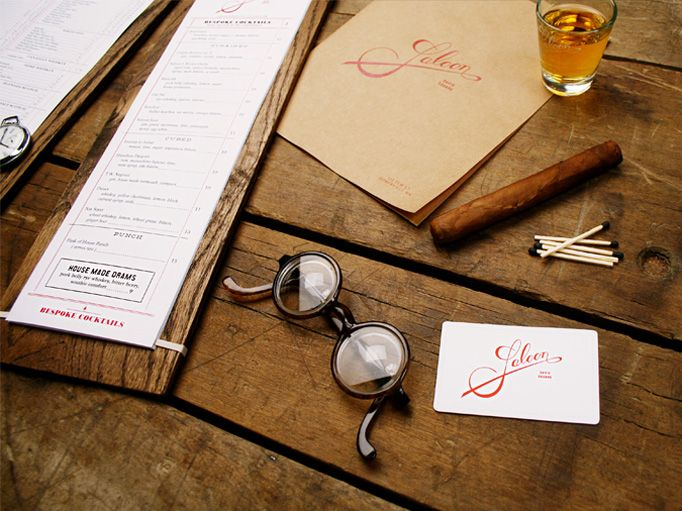Saloon 01 / Somerville, Ma. wish this was around when I lived there. #restaurant #graphic design