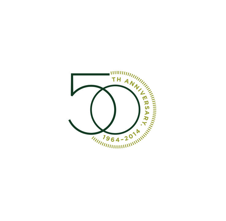 MSU College of Human Medicine 50th Anniversary logo created by Extra Credit Projects.
