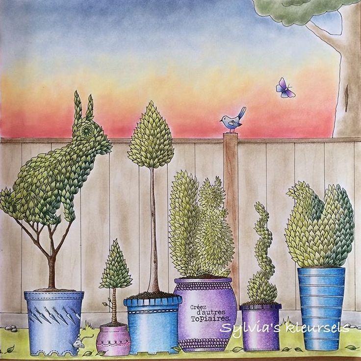 Johanna Basford Secret Garden Coloring Books Colouring Pictures Colored Pencils Instagram Pages Vintage