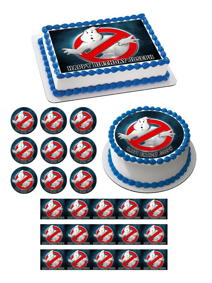 Ghostbusters 4 Edible Birthday Cake Topper
