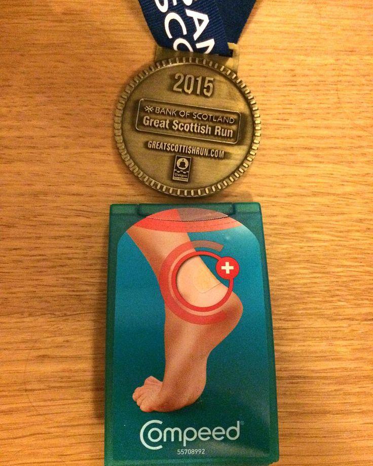 Ouch.  #greatscottishrun #running #10k #glasgow #medal #PB