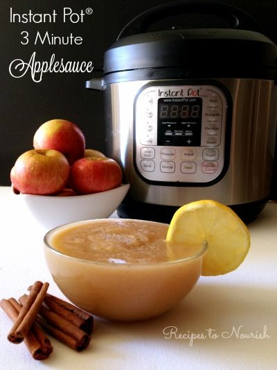 Instant Pot Applesauce in 3 Minutes! If you love applesauce, you've got to try this method. It's absolutely delicious and comes out perfect every time. | Recipes to Nourish
