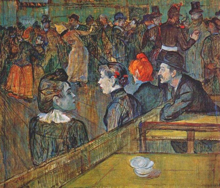 Au Bal du Moulin de la Galette, Oil by Henri De Toulouse Lautrec (1864 ...