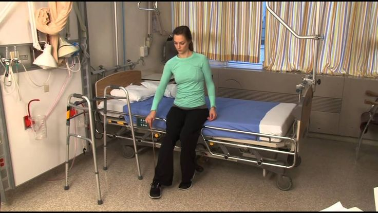 How to get into bed after hip replacement surgery in 2020