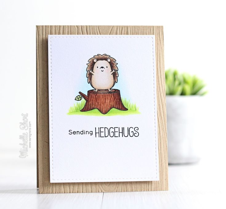 Hello there, today I have a card to share using the MFT Happy Hedgehogs stamp set. I love hedgehogs, they are so cute and this set is no ex...