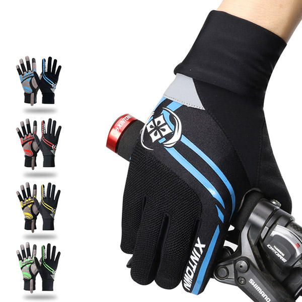 Men Full Finger Gloves Bike Cycling Gloves Outdoor Sports Thick Pad Protect Mittens at Banggood