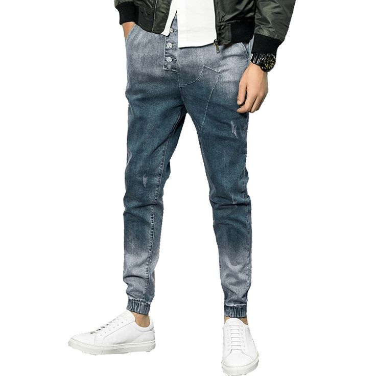 18.89$  Watch now - http://ali1ll.shopchina.info/go.php?t=32798343101 -  2017 Spring Hot Sale Skinny Men Jeans Casual Slin Fit Ankle-length Denim Mens Jogger Jeans Pants M-5XL CYG204  #magazineonlinewebsite