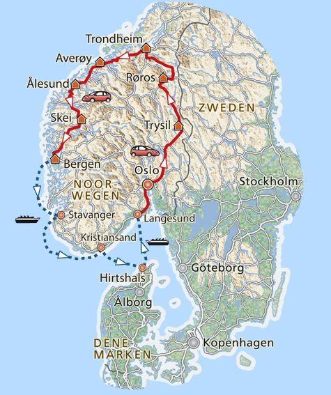 13-daagse rondreis De magie van Noorwegen