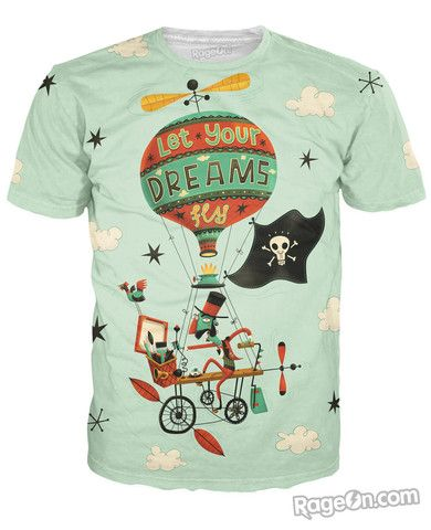 Let Your Dreams Fly T-Shirt - RageOn! - The World's Largest All-Over-Print Online Store