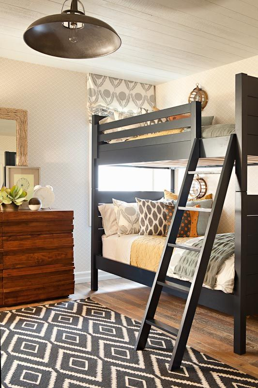 From Taylor Borsari's portfolio. Photo credit: Karyn R Millet: Black Bunk, Boys Bedrooms, Bunk Beds, Boys Rooms, Kid Rooms, Bunk Rooms, Colors Schemes, Guest Rooms, Kids Rooms