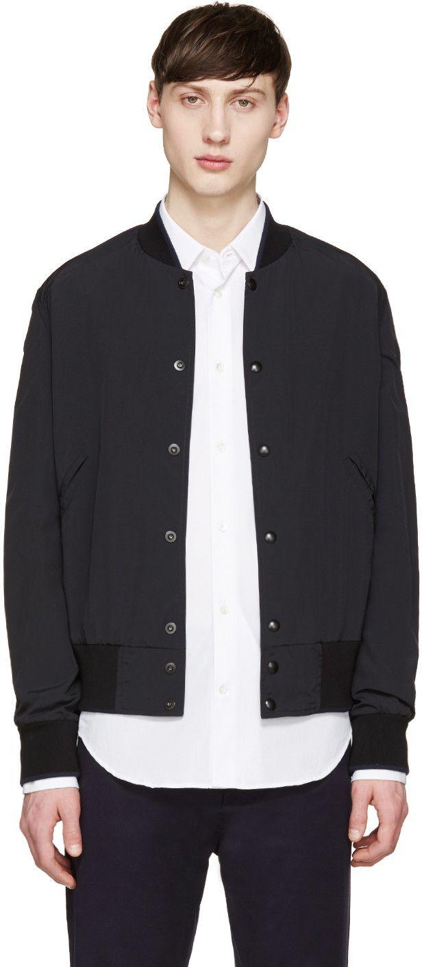 Maison Margiela - Black Nylon Bomber Jacket
