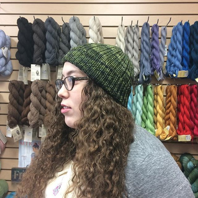Finished project! This gorgeous hat is what Chloe whipped up out of the #ellarae #lacemerinoaran. Pattern will be on our blog soon! . . . #knittingfever #knittersofinstagram #barrie #ontario #canada #freepattern