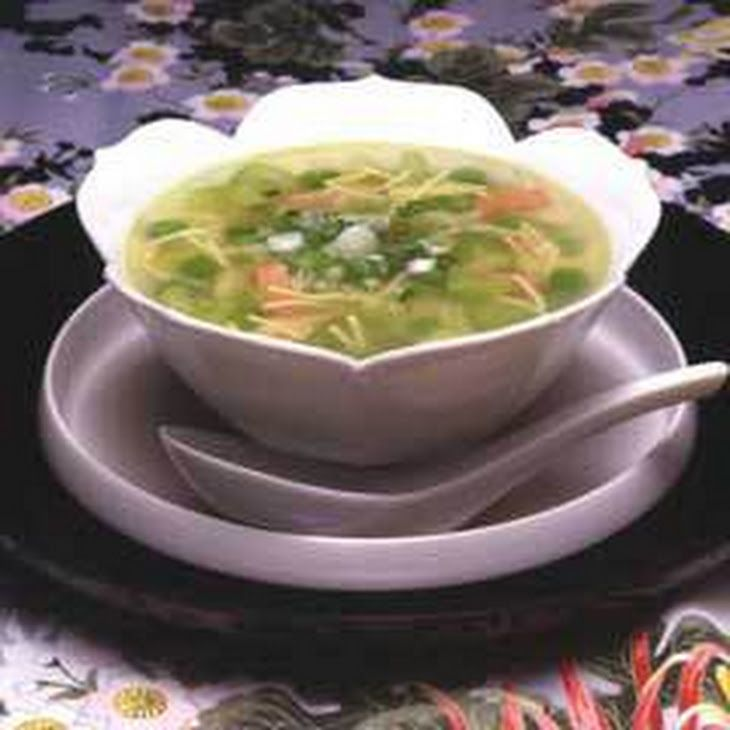 Chicken Soup Chinese Recipe Soups with lipton soup secret noodl soup mix with real chicken broth, water, green peas, celery, cooked ham