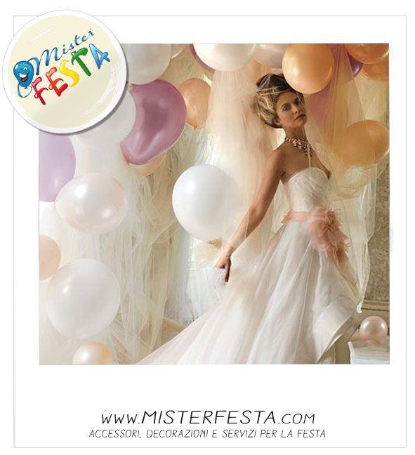 #wedding time, oggi sposi, la sposa e i palloncini per il #matrimonio