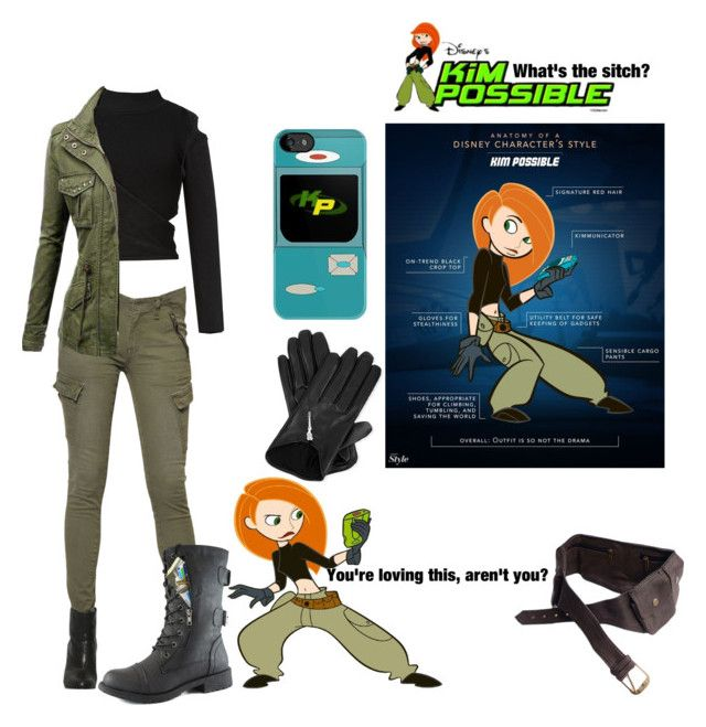 """military inspired kim possible outfit"" by starspy ❤ liked on Polyvore"