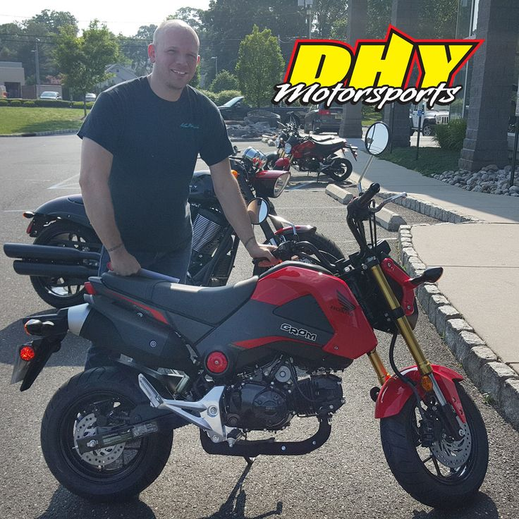 Congratulations to Todd from #Westville #NJ on his purchase of this 2015 #Honda #Grom #125 Enjoy lots of fun. Thank you for making your purchase at #DHYMotorsports You can help Todd win a $100 DHY Gift Card by clicking 'Like' on this post. #mynewride #dhynj