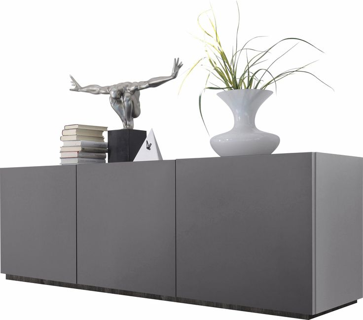 Sideboard Grau Zela Soft Close Funktion FSCR Zertifiziert Yourhome Jetzt Bestellen Unter Moebelladendirektde Wohnzimmer Schraenke
