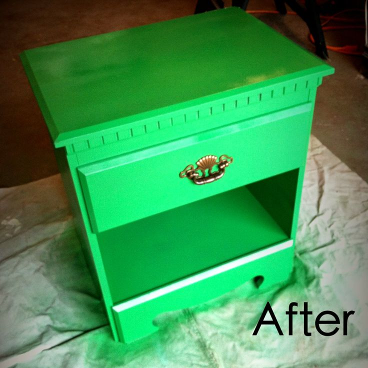 I Did This, Can You?: Ninja Turtle Green Nightstand #NinjaTurtle #diy #paintedfurniture #spraypaint #nightstand