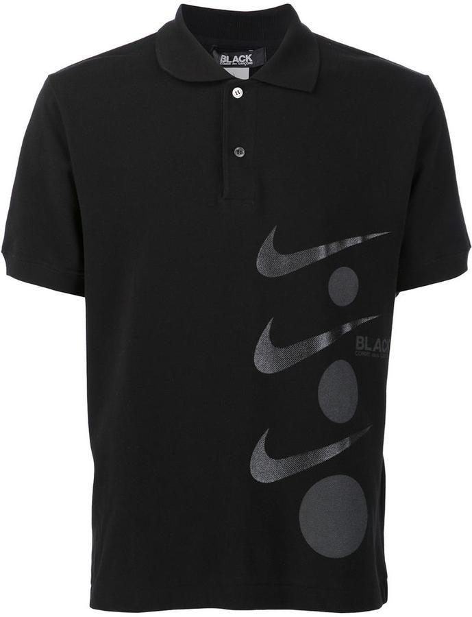 BLACK Comme des Garçons x Nike polo top