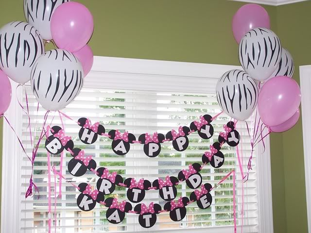 minnie mouse birthday parties