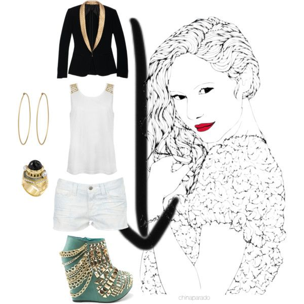 """Gold"" by chinaparado on Polyvore"