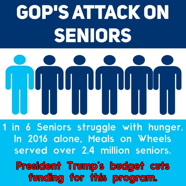 "Trump says, ""Meals on Wheels"" not effective.  One Trump trip to Mar-a-Lago would cover Meals on Wheels for a year."