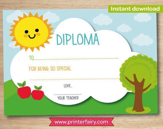 preschool diploma last day of preschool preschool graduation gift