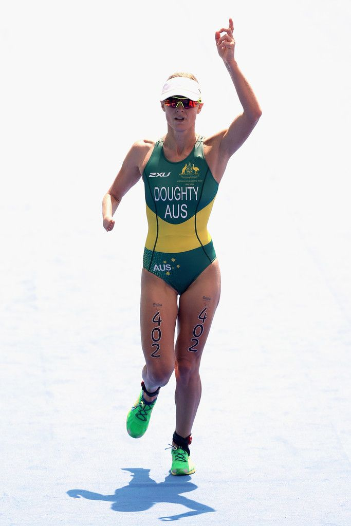 Kate Doughty of Australia competes in the women's triathlon PT4 at Fort Copacabana during day 4 of the Rio 2016 Paralympic Games on September 10, 2016 in Rio de Janeiro, Brazil.