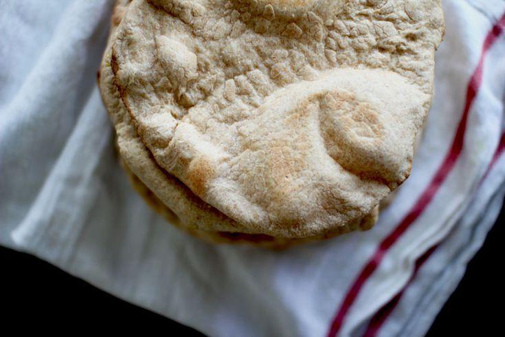 whole wheat pita bread and tzatziki / flourishing foodie