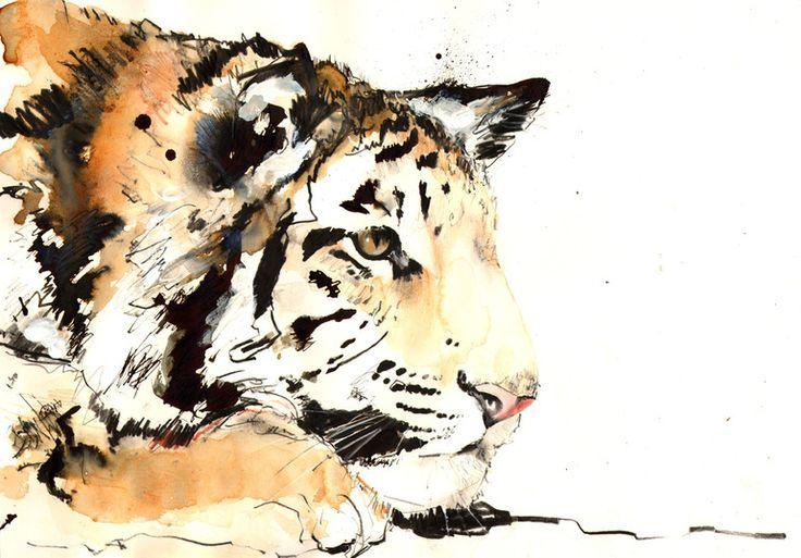 """Saatchi Online Artist: Lucy Newton; """"tiger"""""""