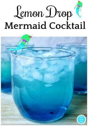 Cocktail Rezepte: Lemon Drop Mermaid Cocktail Rezept mit Midori, Blue Curacao