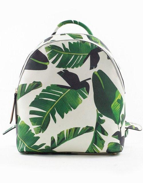 Τσάντα σακίδιο πλάτης φύλλα - Λευκό 39,99 €