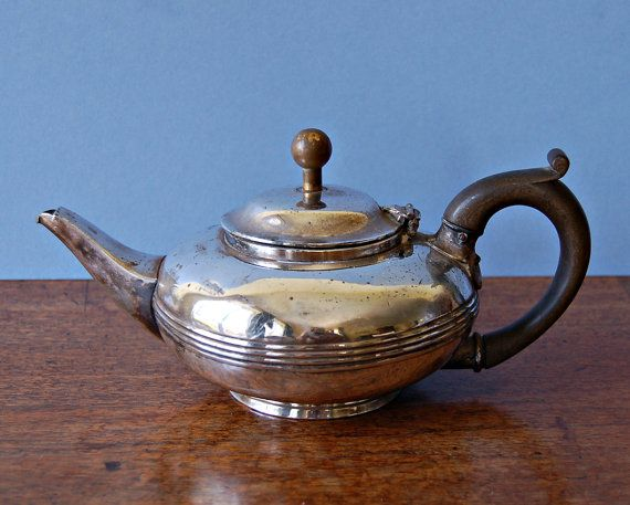 Art Deco silver plated teapot by nancyplage on Etsy, £20.00