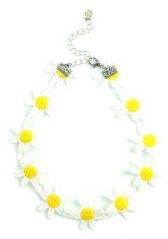 Kristin Perry Daisy Flower Choker Necklace.